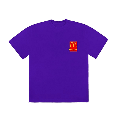 Travis Scott X McDonalds Action Figure Tshirt