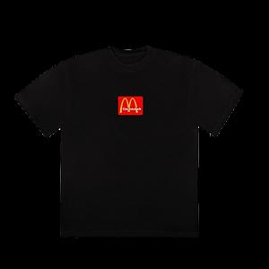 Travis Scott X Mcdonalds Logo Tshirt Large Size Black Color