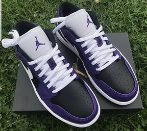 nike jordan 1 low purple black 1