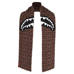 Sprayground FJCK Shark Logo Scarf Brown Color
