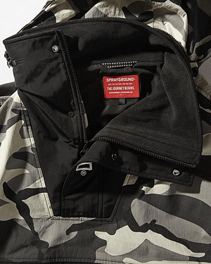 sprayground pullover camo jacket 3