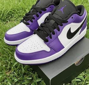 Nike Air Jordan 1 Low Purple White 100% Authentic With Receipt Available Sizes 6, 6.5, 7, 8.5