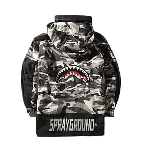 sprayground pullover camo jacket 1