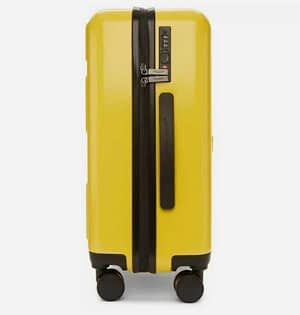 Off-White Travel Suitcase Trolley New Yellow Color Virgil Abloh