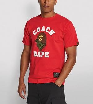 Bape Coach Collaboration Shirt Red Color