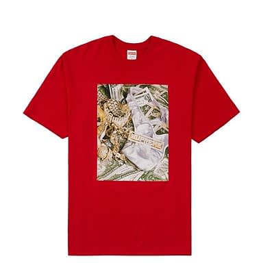 Supreme Bling Bling Tshirt Medium Size Red Color 100% Authentic