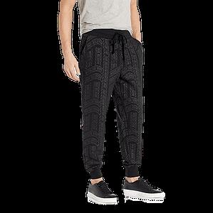 true religion ls all over print jogger pants