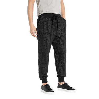 true religion ls all over print jogger pants