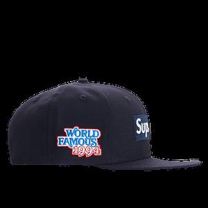 "SUPREME WORLD FAMOUS Hat Size 7 1/2"" Navy Color"