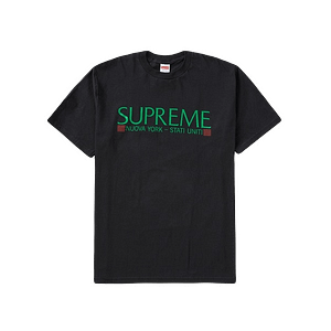 Supreme New York Tshirt Medium Size Black Color