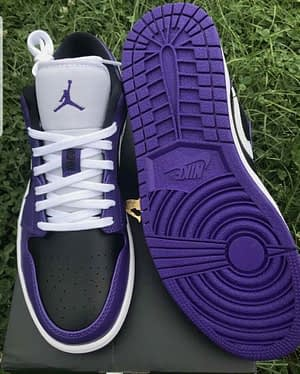 Nike Air Jordan 1 Low Purple Black Size 11 100% AUTHENTIC With Receipt Available Sizes 11,11.5, 12, 13