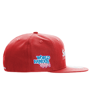 supreme world famous hat red1