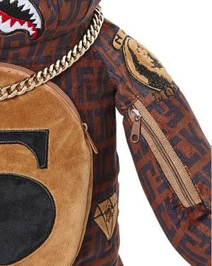 Sprayground Money Baller Gold Chain Bear Backpack