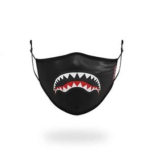 Sprayground White Shark Mouth Logo Face Mask One Size UNISEX