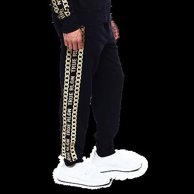 true religion gold chains pants