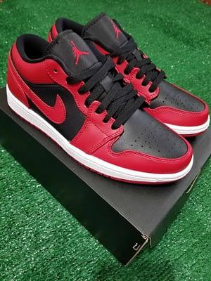 Nike Air Jordan 1 Low Red Black Color Size 7.5