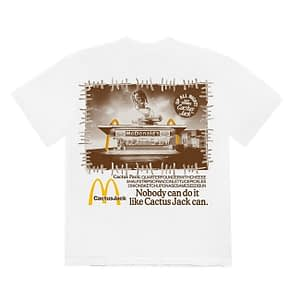 Travis Scott X Mcdonalds Nobody Can Do It Tshirt White Color